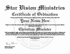minister license certificate template - certificate of ordination for minister search results